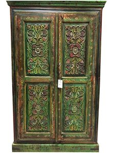 antique door mehrab brass accents rustic armoire solid teak wood antique armoire furniture