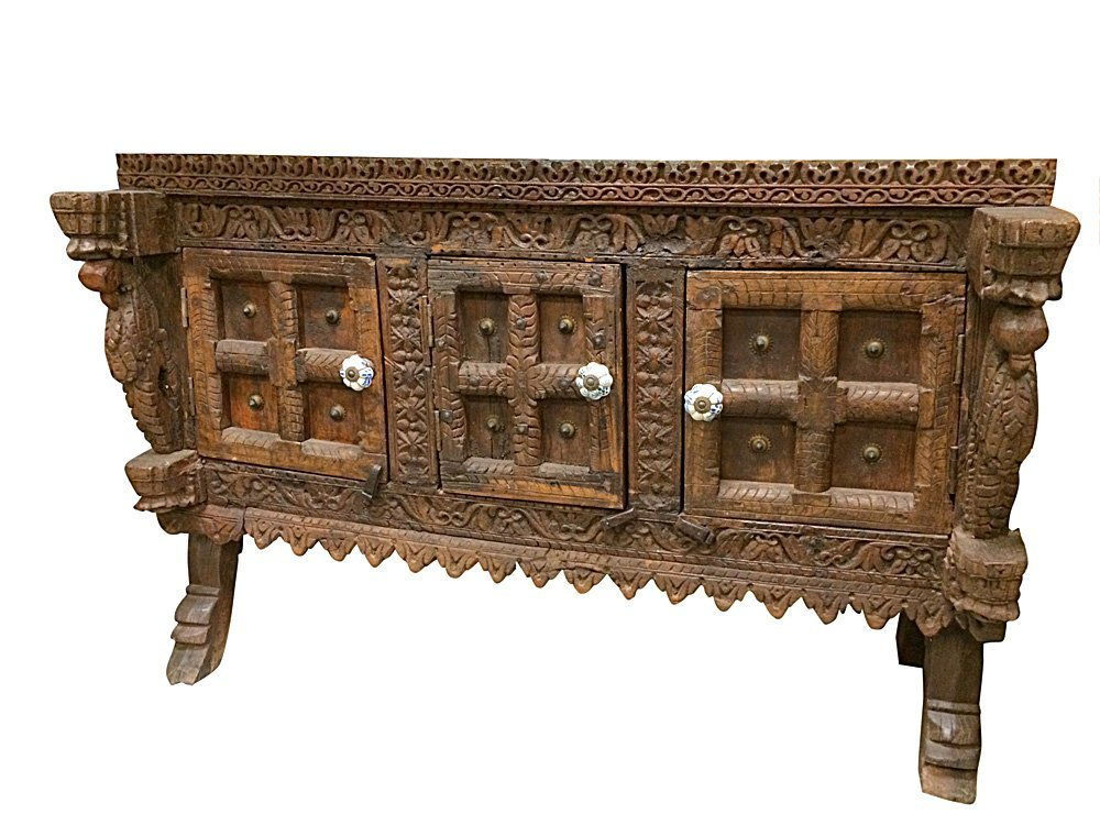 Antique sideboard styles indian decor india furniture for Sideboard indien