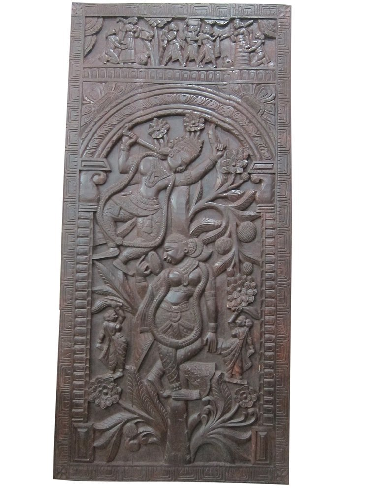 Indian interior carved panel decor india